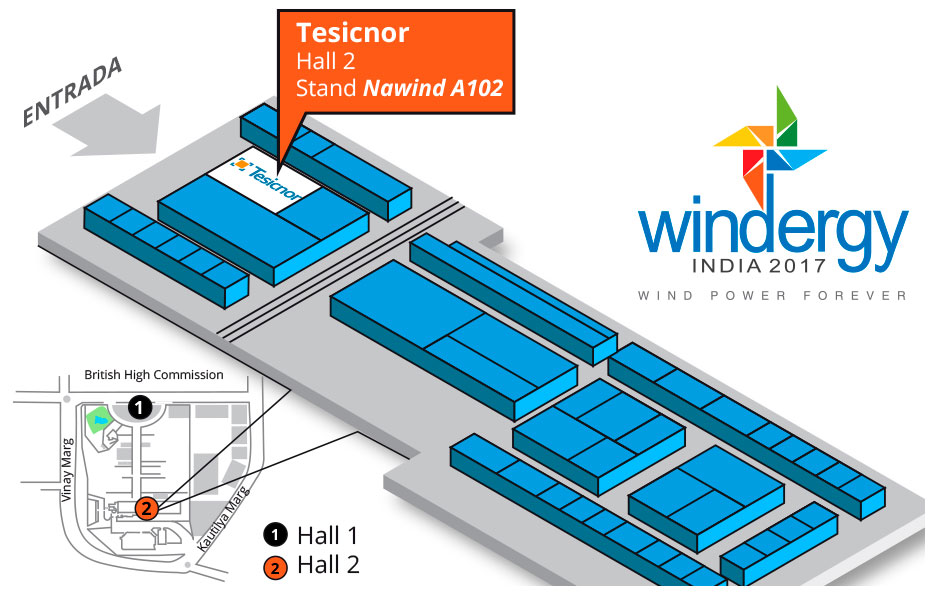 Map of Windergy Fair in India