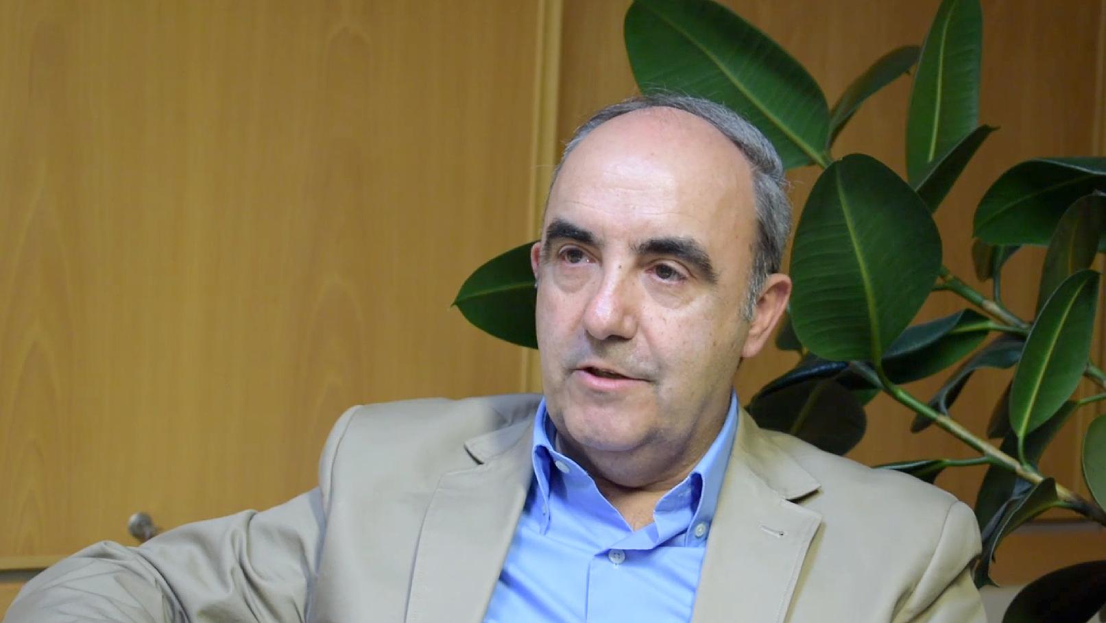 Santiago Pangua, en la entrevista