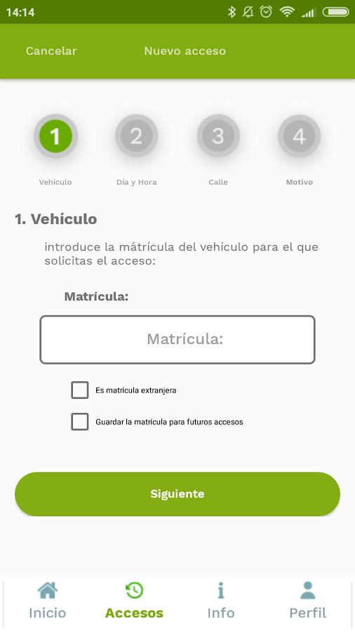 tok-tok solicitud acceso