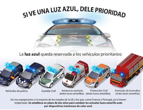Luces azules para todos los vehículos de emergencias