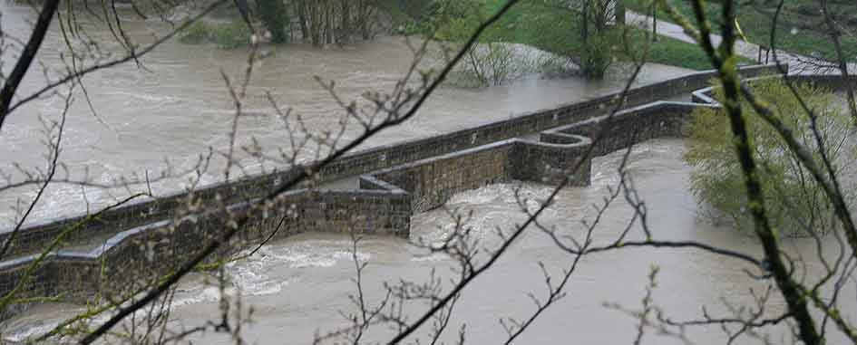 Inundaciones del río Arga en 2018