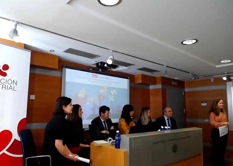 Santiago Pangua junto al resto de los expertos en la Primera Jornada sobre Movilidad Escolar Segura