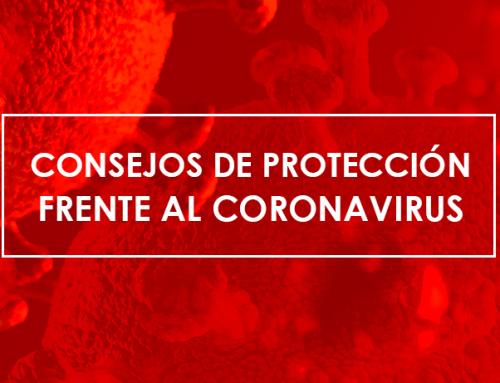 Consejos de protección frente al coronavirus