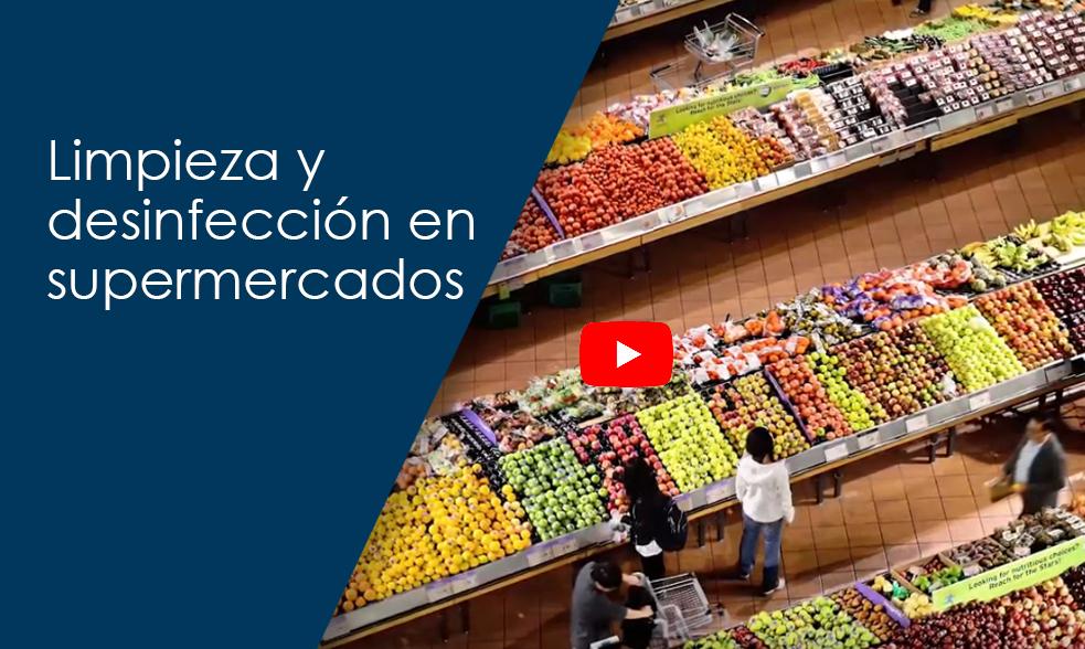Limpieza y desinfección en supermercados