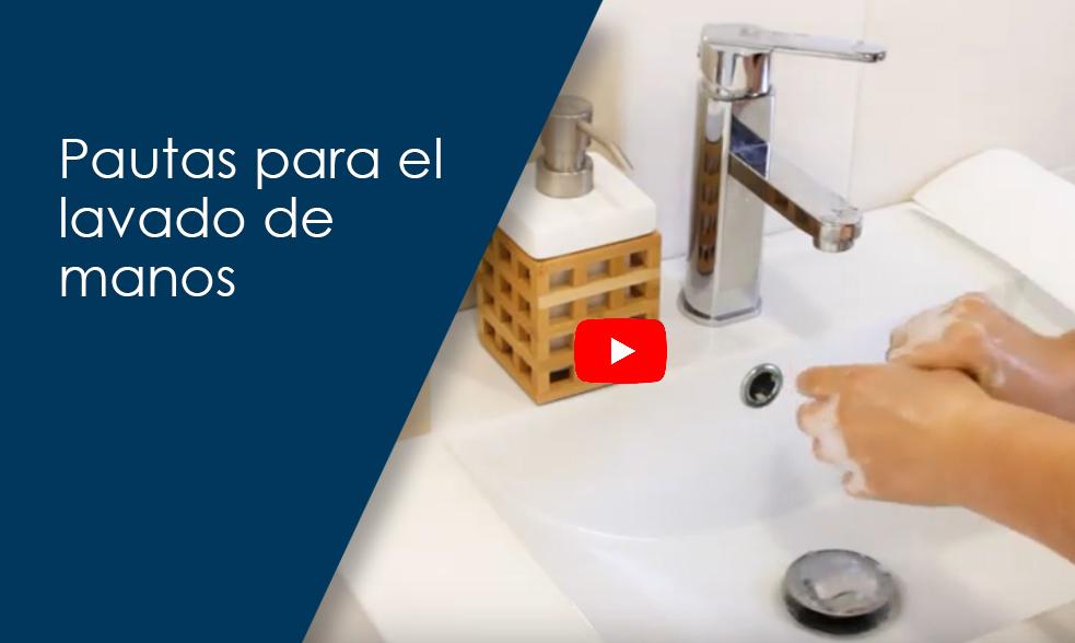 Pautas para el lavado de manos