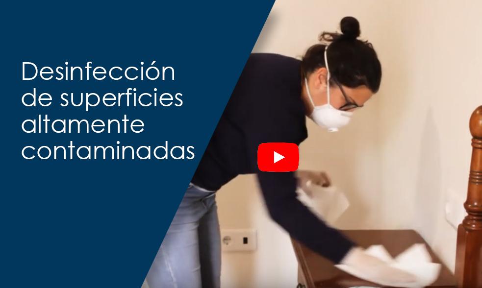 Desinfección de superficies altamente contaminadas