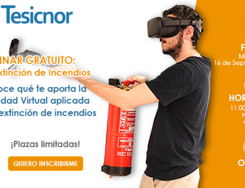 Inscríbete a nuestro seminario gratuito de Realidad Virtual aplicada a la Extinción de Incendios