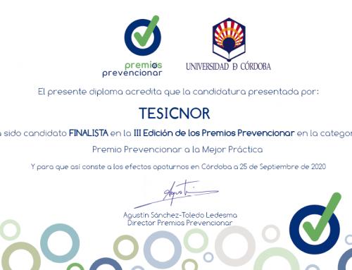 Tcheck finalista en los Premios Prevencionar – Mejor Práctica Preventiva